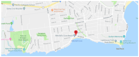 Map of West Cliff Drive